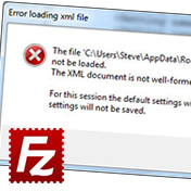 FileZilla XML not well formed