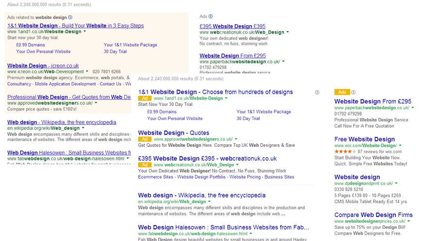 Google Ad Changes Nov 2013