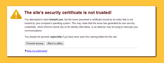 Chrome SSL Certificate Warning